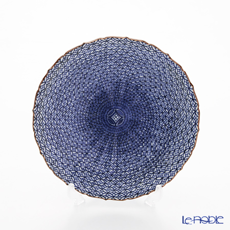 京焼・清水焼 皿 プレート 18cm 011493六寸皿染付七宝詰