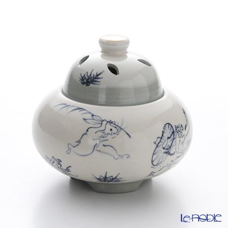 T. Nishikawa & Co. Inc - Kyoto ware / Kiyomizu ware  Incense Burner, Kozanji L, S1053