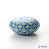 Kyo & Kiyomizu pottery incense S0831 Blue three-color cloisonné Kou spring kiln Shinichi Takashima