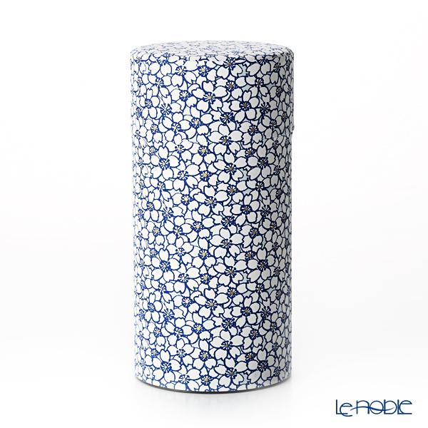 京焼・清水焼 茶缶 S0880桜 白 200g アルミ製