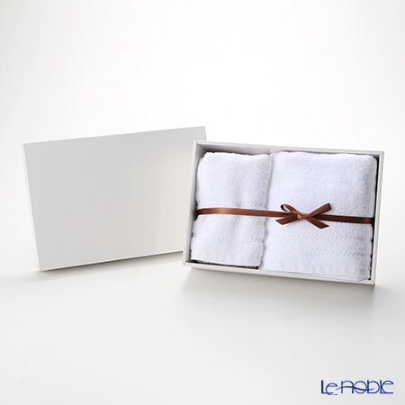 マイクロコットン レギュラー ミニバスタオル&フェイスタオル セット ホワイト(箱付)