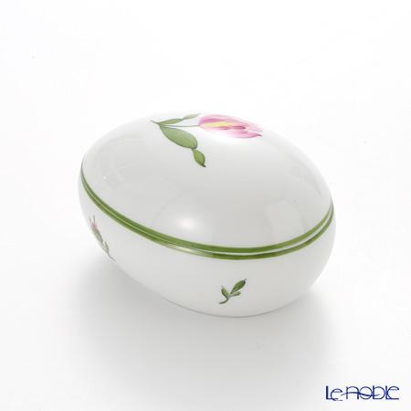 Augarten Viennese Flowers Egg Shape Box, pink tulip 5089U/606