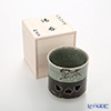 Obori Soma Pottery Double wall teacup, Large with wooden box