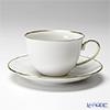 Augarten 'White with Gold Rim' [Opus shape] Tea Cup & Saucer 250ml
