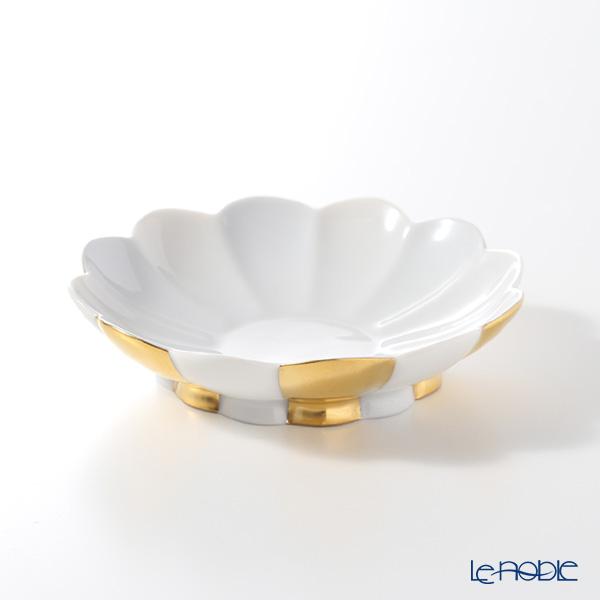 アウガルテン(AUGARTEN) メロン ゴールド&ホワイト(7027G) 小皿9.5cm(015メロンシェイプ)