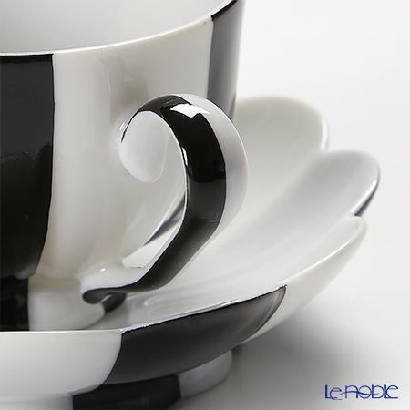 アウガルテン(AUGARTEN) メロン ブラック&ホワイト(7027)モカカップ&ソーサー 0.05L(015)