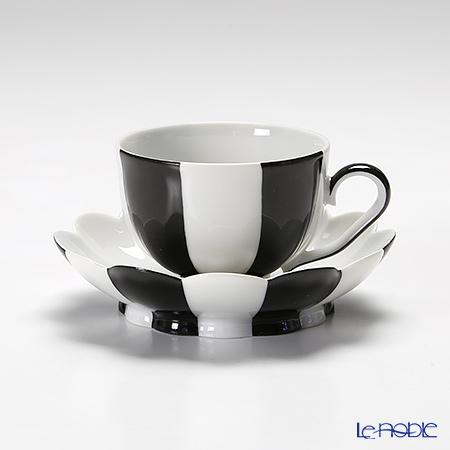 アウガルテン(AUGARTEN) メロン ブラック&ホワイト(7027) モカカップ&ソーサー 0.05L(015)