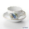 Meissen bird 260210 / 00582 and Kingfisher Coffee Cup & Saucer 200 cc Kingfisher