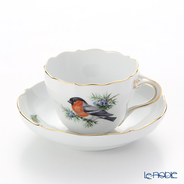 マイセン(Meissen) 鳥 260210/00582/Bullfinch コーヒーカップ&ソーサー 200cc ウソ