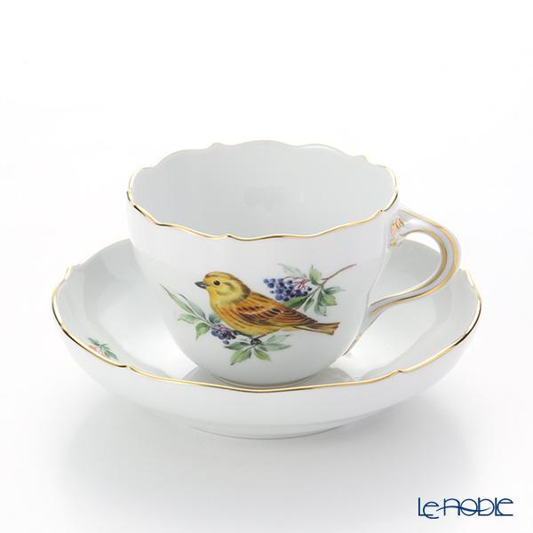 マイセン(Meissen) 鳥 260210/00582/Yellow Hammer コーヒーカップ&ソーサー(200cc) キアオジ