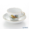 Meissen 'Bird - Yellow Hammer' 260210/00582 Coffee Cup & Saucer 220ml
