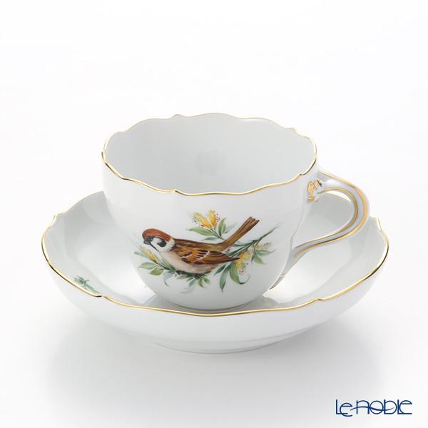 マイセン(Meissen) 鳥 260210/00582/Sparrow コーヒーカップ&ソーサー 200cc スズメ
