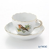 Meissen 'Bird - Robin' 260210/00582 Coffee Cup & Saucer 220ml
