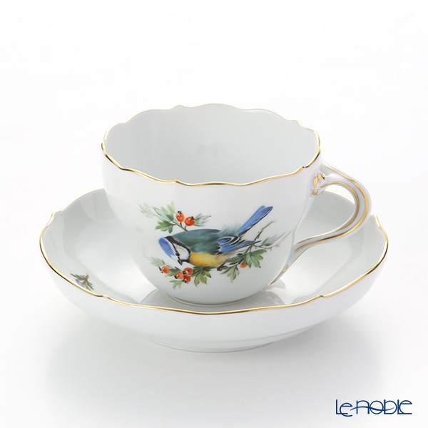 マイセン(Meissen) 鳥 260210/00582/Blue Titmouse コーヒーカップ&ソーサー 200cc アオガラ