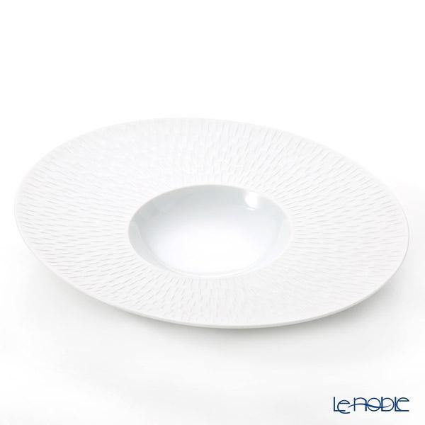 Degrenne Paris 'Boreal' Satin White Oval Gourmet Plate 30x26cm