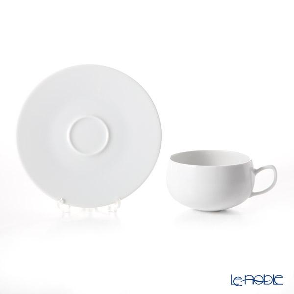 Degrenne Paris 'Salam' White Tea Cup & Saucer 250ml