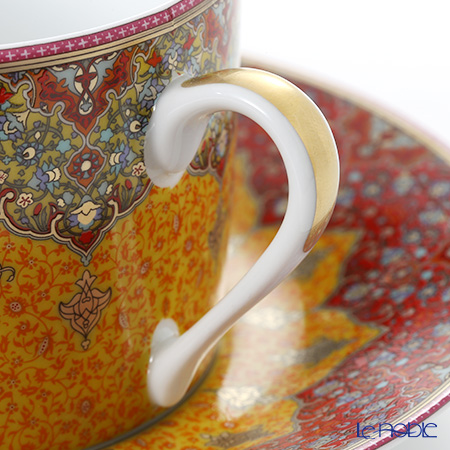 Deshoulières 'Dhara' Yellow Red Tea Cup & Saucer 160ml