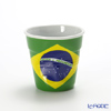 Revol Froisses Espresso Crumple Tumbler, Drapeau Brazil 80 cc