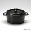 Staub 'Pico' Black [Cast Iron] Round Cocotte 18cm 1700ml
