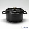 Staub 'Pico' Black [Cast Iron] Round Cocotte 20cm 2200ml
