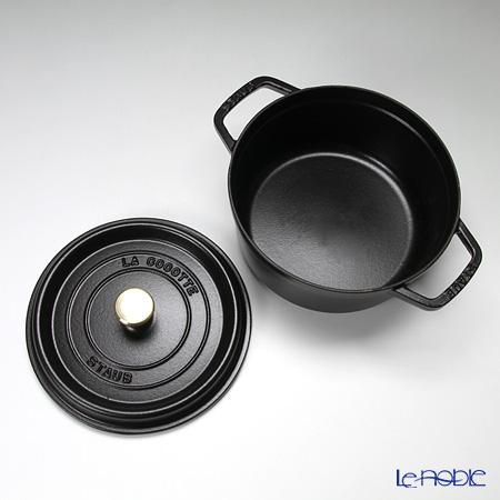 Staub 'Pico' Black [Cast Iron] Round Cocotte 22cm 2600ml