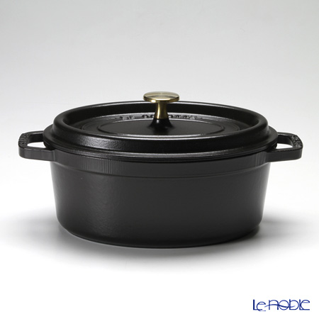 ストウブ(staub) ピコ・ココット オーバル23cm/2.35L ブラック