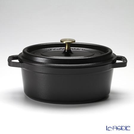 ストウブ(staub) ピコ・ココット オーバル 23cm/2.35L ブラック