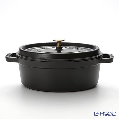 ストウブ(staub) ピコ・ココット オーバル 27cm/3.2L ブラック