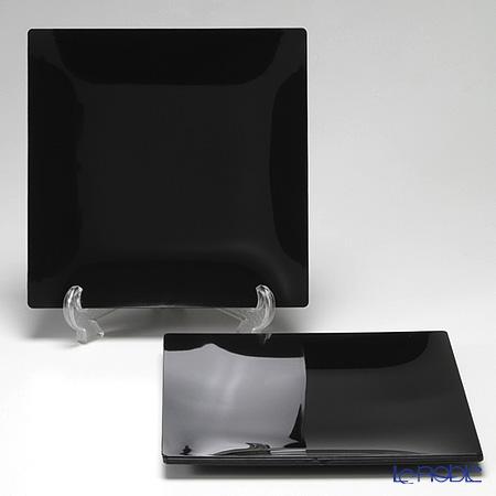 ソリア(solia) プレートコレクション フルイドプレート 25cm ブラック PL20213FF 5枚入