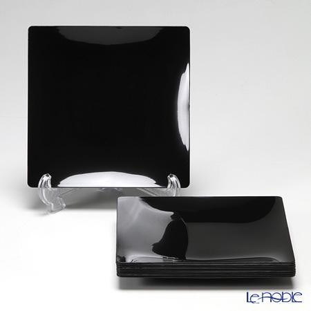 ソリア(solia) プレートコレクション フルイドプレート 16cm ブラック PL20233FF 10枚入