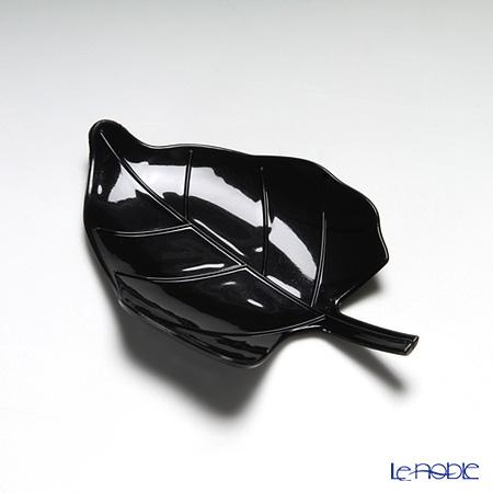 ソリア(solia) パーティーリーフプレート ブラック F02017 12個入
