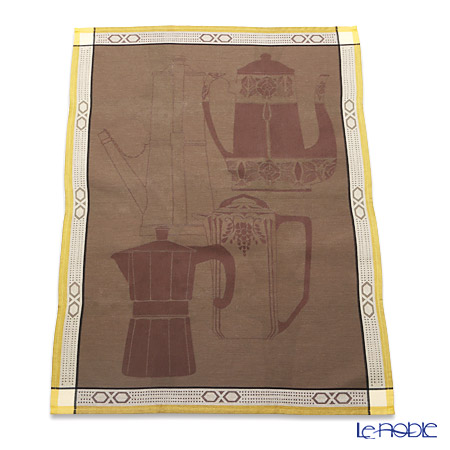 ル・ジャカール・フランセ ティータオルコーヒーメーカー(ブラウン) 80×60cm 綿100%