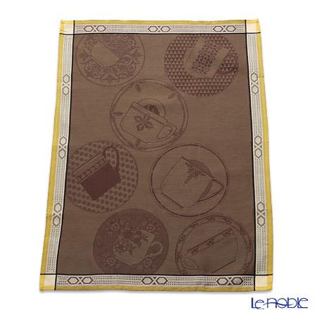 ル・ジャカール・フランセ ティータオルポーズカフェ(ブラウン) 80×60cm 綿100%