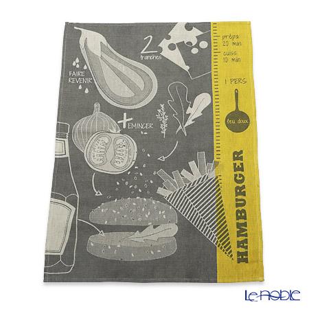 Le Jacquard Francais tea towels Hamburger (dark grey) 70 x 50 cm 100% cotton
