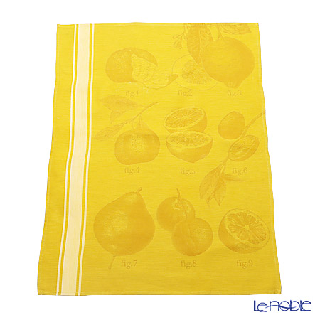 Le Jacquard Francais tea towels Citrus (lemon) 80 x 60 cm 100% cotton