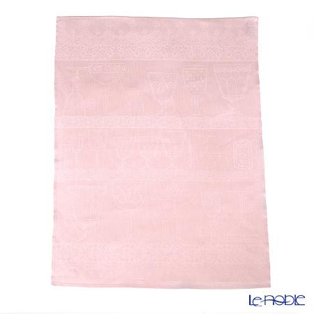 ル・ジャカール・フランセ ティータオルクリスタル(ライトピンク) 80×60cm 綿100%