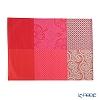 Le Jacar Francais 'Fleur de Kyoto' Cherry Red Placemat 52.5x37cm (Cotton 85% Acrylic 15%)