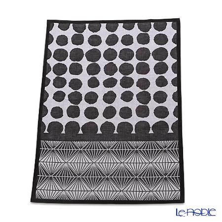 ル・ジャカール・フランセ ティータオルオスロ(ブラック&ホワイト) 70×50cm 綿100%