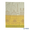 Le Jacar Francais 'Paris Panorama' Sun Yellow Tea Towel 59x77.5cm (Cotton 100%)