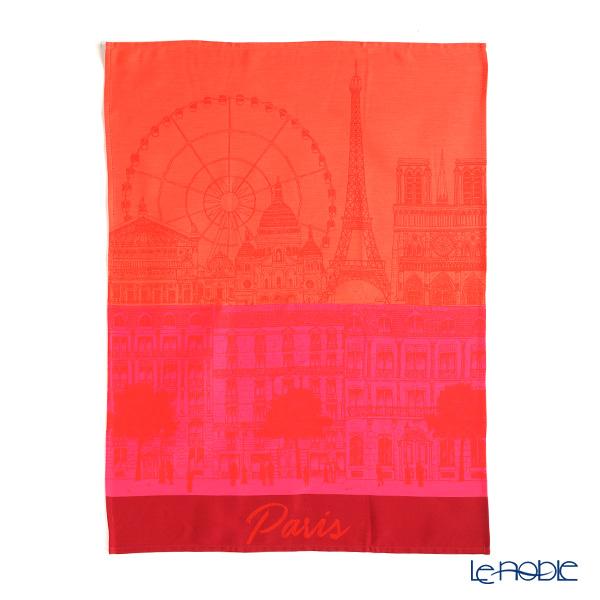 Le Jacar Francais 'Paris Panorama' Red Tea Towel 59x77.5cm (Cotton 100%)