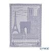 Le Jacar Francais 'Paris' Hemp Blue Gray Tea Towel 59x77.5cm (Cotton 100%)