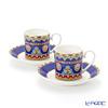 Villeroy & Boch Samarkand Kobaltblau Espresso cup & saucer, set of 2
