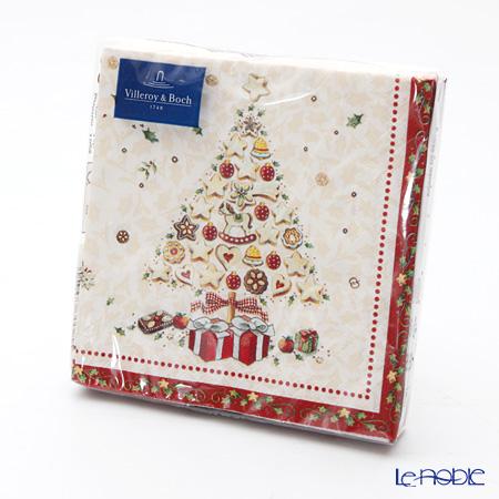 ビレロイ&ボッホ(Villeroy&Boch) ウィンタースペシャル ナプキン クリスマスツリー 25×25cm 20枚入 0076