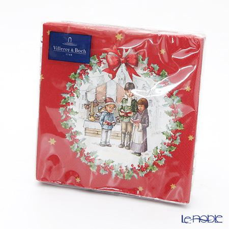 ビレロイ&ボッホ(Villeroy&Boch) ウィンタースペシャル ナプキン クリスマスコーラス 25×25cm 20枚入 0086