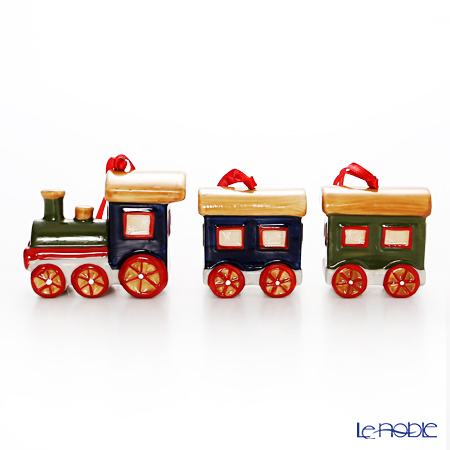 Villeroy & Boch 'Nostalgic - Train / Christmas' 6666 Ornament (set of 3 / Locomotive)
