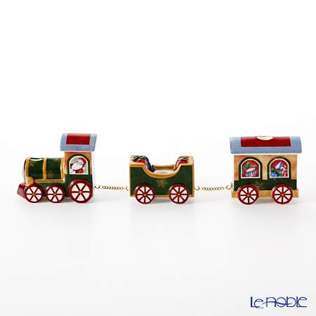Villeroy & Boch 'North Pole Express - Train with Track / Christmas' 6534 Candle Holder (set of 7)