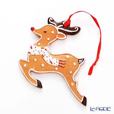 Villeroy & Boch 'Winter Bakery Decoration / Christmas' 6670 Gingerbread Reindeer Ornament 9x10cm