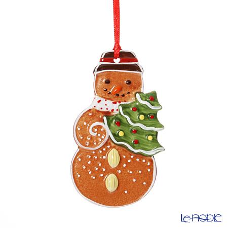 Villeroy & Boch 'Winter Bakery Decoration / Christmas' 6673 Gingerbread Snowman Ornament 6x7cmcm