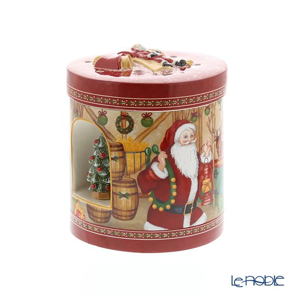 ビレロイ&ボッホ(Villeroy&Boch) クリスマストイズレインディアハウス 21cm 6622 キャンドルホルダー オルゴール付