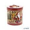 Villeroy & Boch 'Christmas Toys - Round Gift Box (Santa's Stable / Reindeer)' 6622 Candle Holder with Music Box (Music : Santa Claus is Coming to Town) 16xH18cm